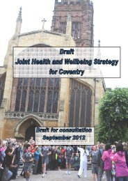 Draft Joint Health and Wellbeing Strategy for Coventry - Meetings ...