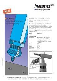 TIOS 6100 pneumatisch-hydraulisches 6-kant Setzwerkzeug - Tu-val