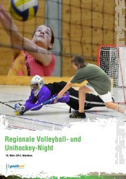 Regionale Volleyball- und Unihockey-Night - FCGW