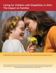 Caring for Children with Disabilities in Ohio: The Impact on Families
