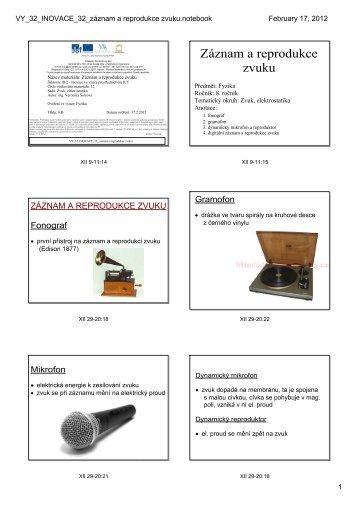 VY_32_INOVACE_32_záznam a reprodukce zvuku.notebook