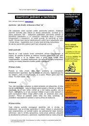 Asertivní jednání a techniky - Psychotesty