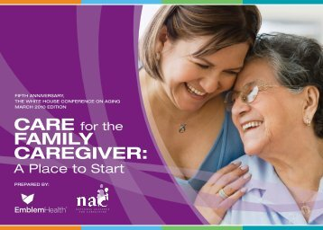 Care for the Family Caregiver - National Alliance for Caregiving