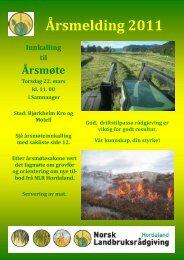 2011 Årsmelding - Norsk Landbruksrådgiving Hordaland