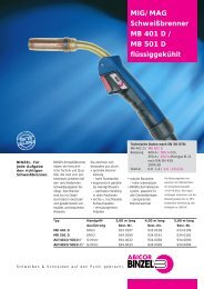 MIG/MAG Schweißbrenner MB 401 D / MB 501 D flüssiggekühlt