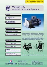 Magnetically coupled centrifugal pumps