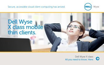 Dell Wyse X class mobile thin clients. - Arcy Solutions, Inc.