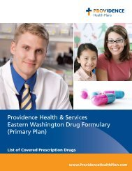 PHP Primary Plan formulary - Providence Health Plan
