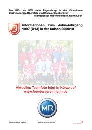 U13-Bezirksoberliga - Foerderverein-jahn.de