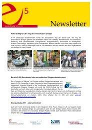 e5-Newsletter Mai 2011 - e5-Salzburg