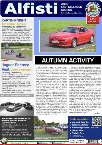 AUTUMN ACTIVITY - Alfa Romeo Owners Club