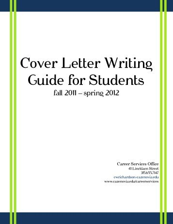 Cover Letter Writing Guide for Students - CazNet > Home ...