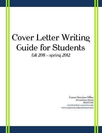 Cover Letter Writing Guide - CazNet > Home - Cazenovia College