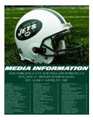 MEDIA INFORMATION - New York Jets