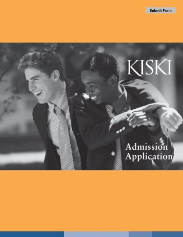 Applications Forms 1 & 2 - The Kiski School