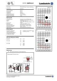Pumpdaten Typ BWP42 - Landustrie