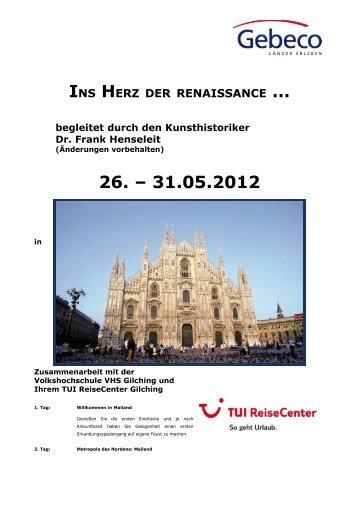 … 26. – 31.05.2012 - Kultur-Portal Gilching