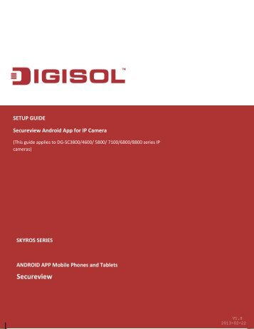Secureview Android App - Digisol.com