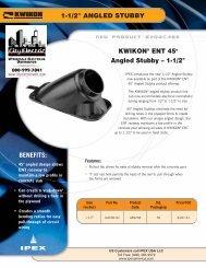Kwkion 45 D Angle Stubby - Ipex USA LLC