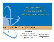 10 CFR Part 21 Evaluations - CMAA