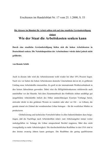 """""""Wie der Staat die Arbeitskosten senken kann""""(How the government ..."""