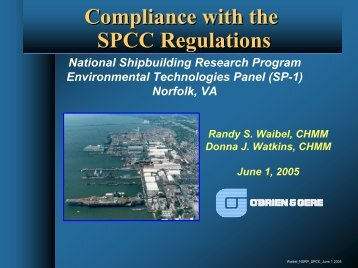 Compliance with the SPCC Regulations - NSRP