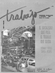 Revista Trabajo No. 7. 1992. El socialismo que ... - UAM Iztapalapa