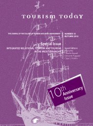Tourism Today - Journal Fall 2010 - College of Tourism and Hotel ...