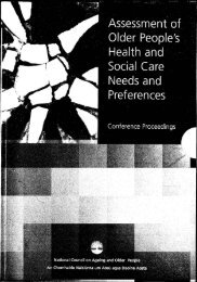 Assessment of Older People's Health and Social Care Needs and ...