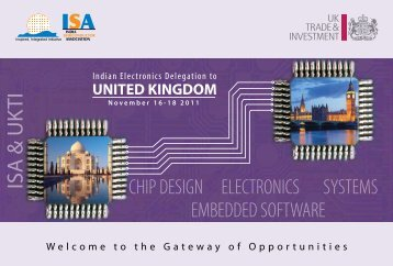 IESA UK Delegation 2011 - india electronics & semiconductor ...