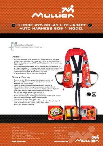 Hi-RiSE 275 SOLAS LifE jAckEt AUtO HARNESS SOS 1 ... - Arco