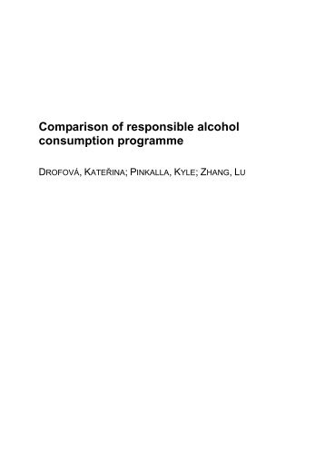 Comparison of responsible alcohol consumption ... - USA.FEK.ZCU.CZ