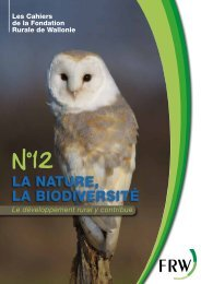 La nature, La biodiversité - Fondation rurale de Wallonie
