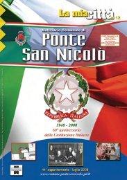 Notiziario comunale N. 2/2008 - Luglio - Comune di Ponte San Nicolò