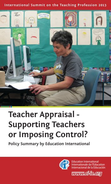 Teacher Appraisal - Supporting Teachers or Imposing Control? - SVIZ