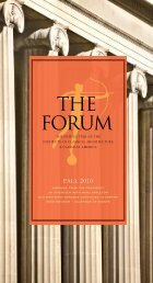 THE FORUM - Institute of Classical Architecture & Art