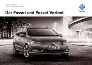 Technik und Preise zum Passat Variant - Volkswagen AG