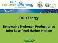 DOD Energy - Clean Technology and Sustainable Industries ...