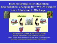 Changing How We Do Business from Admission to Discharge