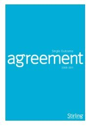 Stirling Single Outcome Agreement 2008 – 11 - Stirling Council