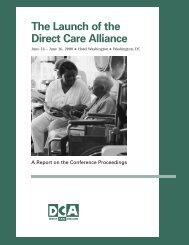 The Launch of the D i rect Care Alliance - PHI