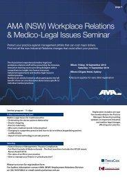 Workplace Relations & Medico-Legal Issues Seminar - Australian ...