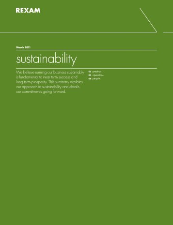 Summary Sustainability report 2010