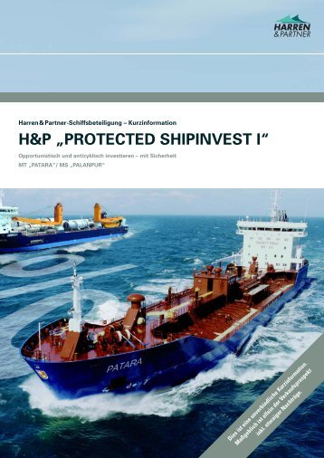 "H&P ""PROTECTED SHIPINVEST I"" - Harren & Partner"