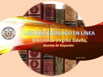 Catálogo en Línea - Caribbean University