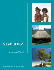 2009 Annual Report - Seacology
