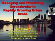 Managing and Protecting Groundwater in Rapidly ... - Igcp-grownet.org