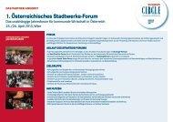 1. Österreichisches Stadtwerke-Forum - Business Circle