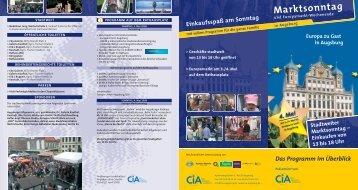 Stadtweiter Marktsonntag - Stadt Augsburg