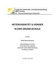 HETEROGENITÄT & GENDER IN DER GRUND-SCHULE - IMST